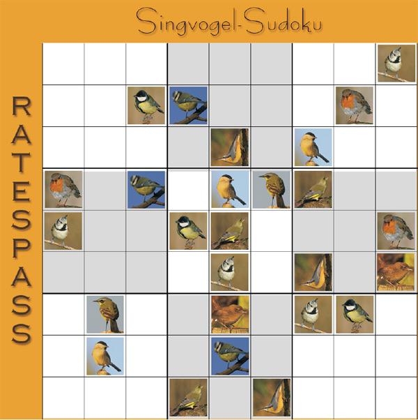 Singvogel SuDoku
